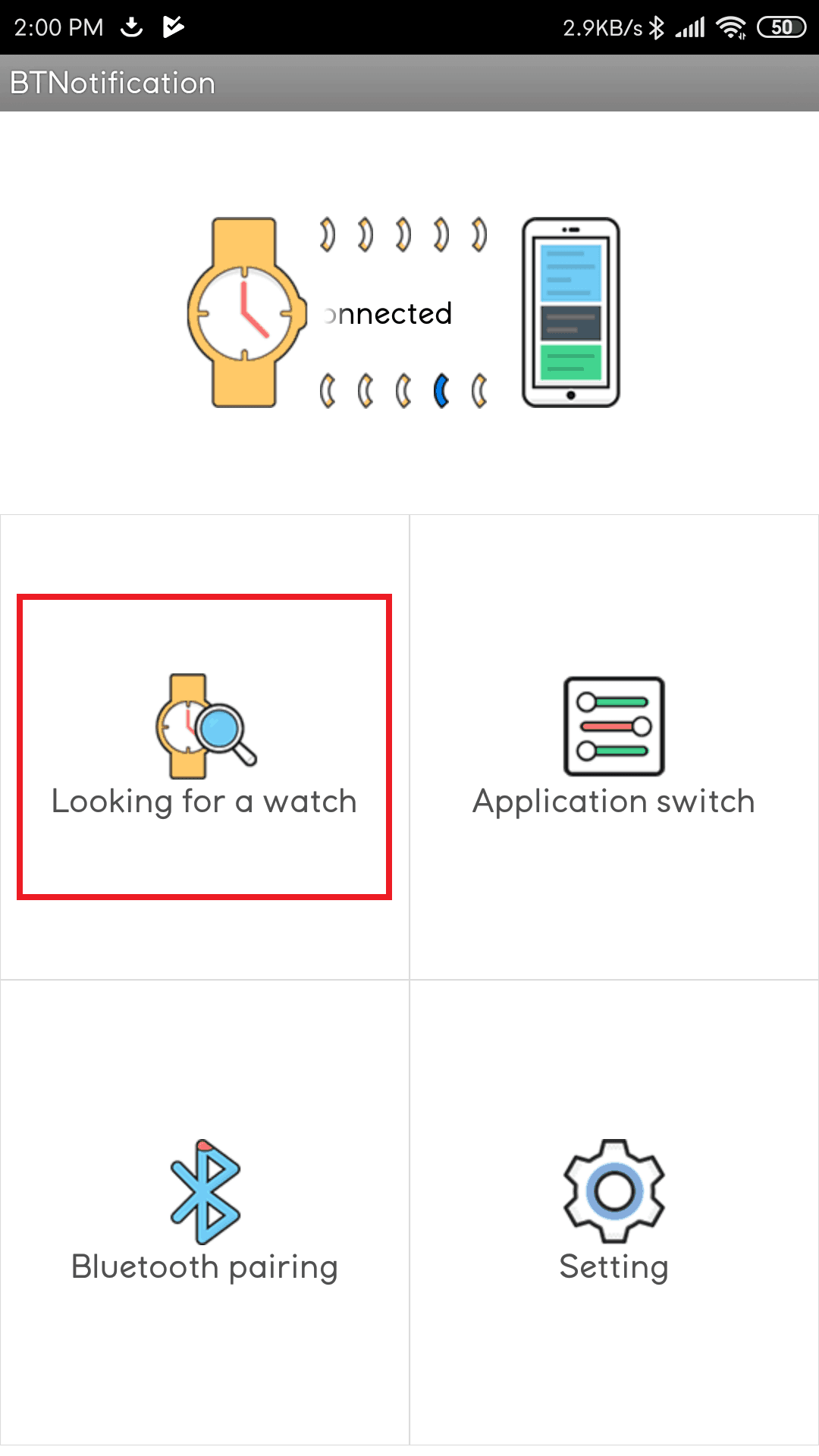 Bluetooth Notification App Looking for a watch